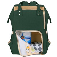 Фото Рюкзак для мамы Sunveno Diaper Bag Dark Green Embroidery NB22179.DGE